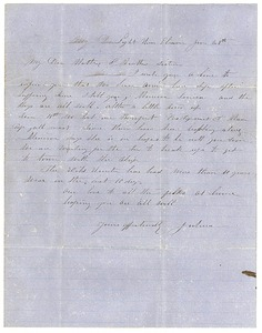 Letter from Joshua Sears to Mr Heman G Sears